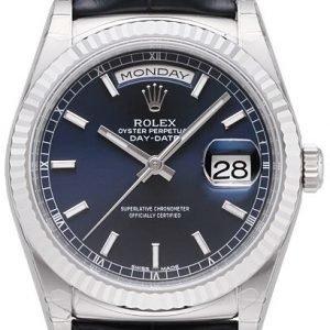 Rolex Day-Date 118139-0004 Kello Sininen / Nahka