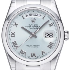 Rolex Day-Date 118206-0035 Kello Hopea / Platina