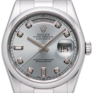 Rolex Day-Date 118206-0037 Kello Hopea / Platina