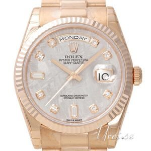 Rolex Day-Date 118235f-0026 Kello Harmaa / 18k Punakultaa