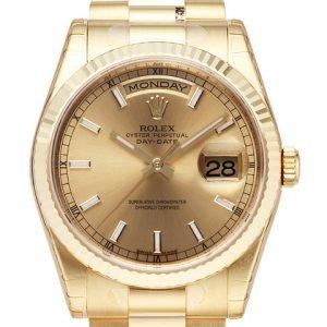 Rolex Day-Date 118238-0103 Kello Samppanja / 18k Keltakultaa
