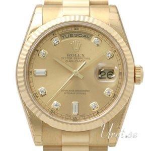 Rolex Day-Date 118238-0116 Kello Samppanja / 18k Keltakultaa