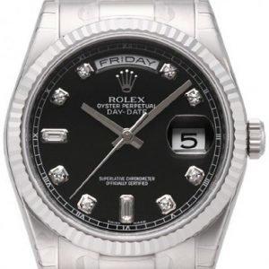 Rolex Day-Date 118239-0089 Kello Musta / 18k Valkokultaa