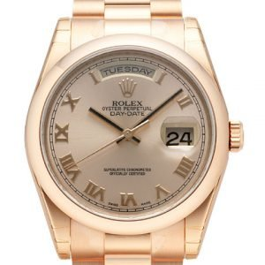 Rolex Day-Date 36 118205f-0013 Kello Samppanja / 18k Punakultaa