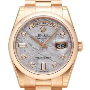 Rolex Day-Date 36 118205f-0020 Kello Harmaa / 18k Punakultaa