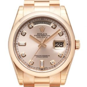 Rolex Day-Date 36 118205f-0023 Kello Pinkki / 18k Punakultaa