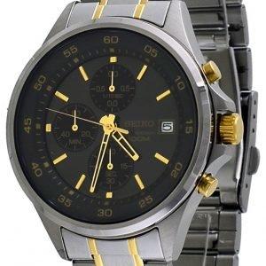 Seiko Chronograph Sks481p1 Kello Musta / Kullansävytetty