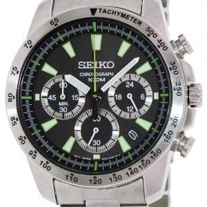 Seiko Chronograph Ssb027 Kello Musta / Teräs