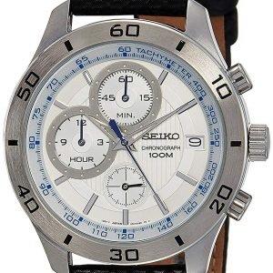 Seiko Chronograph Ssb191p1 Kello Valkoinen / Nahka