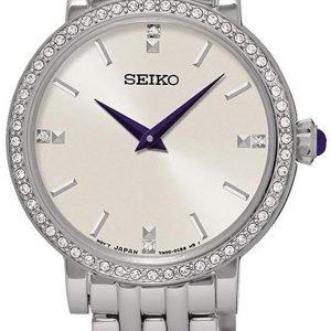 Seiko Dress Ladies Sfq811p1 Kello Hopea / Teräs