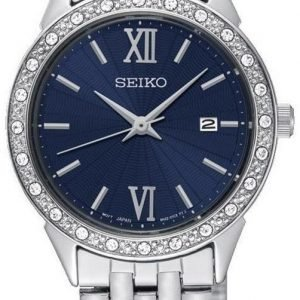 Seiko Dress Ladies Sur691p1 Kello Sininen / Teräs