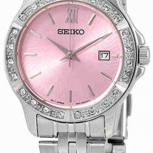 Seiko Dress Ladies Sur739p1 Kello Pinkki / Teräs