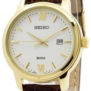 Seiko Dress Sur742p1 Kello Valkoinen / Nahka