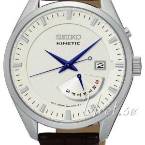 Seiko Kinetic Srn071p1 Kello Samppanja / Nahka