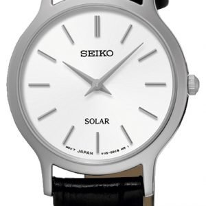 Seiko Solar Sup299p1 Kello Valkoinen / Nahka