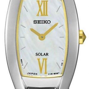 Seiko Solar Sup312p1 Kello Valkoinen / Kullansävytetty Teräs