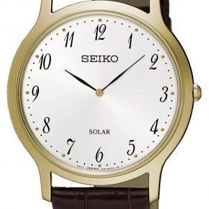 Seiko Solar Sup860p1 Kello Valkoinen / Nahka