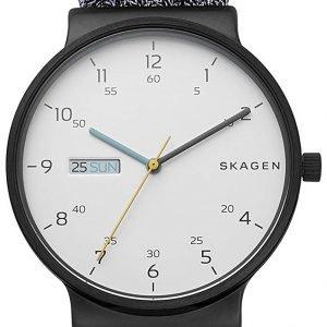 Skagen Ancher Skw6454 Kello Valkoinen / Tekstiili