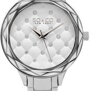 So & Co New York Lenox 5255.1 Kello Valkoinen / Teräs