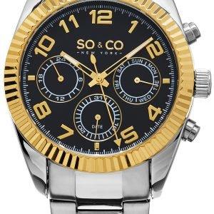 So & Co New York Madison 5009.3 Kello Musta / Teräs