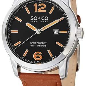 So & Co New York Madison 5011l.1 Kello Musta / Nahka