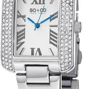 So & Co New York Madison 5020.1 Kello Valkoinen / Teräs