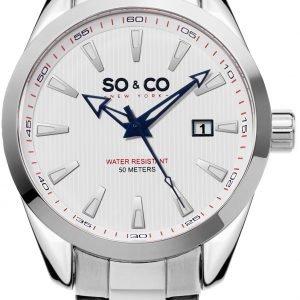 So & Co New York Madison 5039b.3 Kello Valkoinen / Teräs