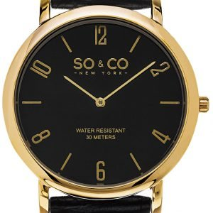 So & Co New York Madison 5043.3 Kello Musta / Nahka