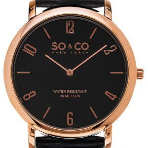 So & Co New York Madison 5043.4 Kello Musta / Nahka