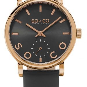 So & Co New York Madison 5093l.5 Kello Harmaa / Nahka