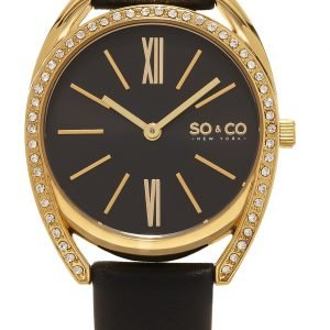 So & Co New York Madison 5097.4 Kello Musta / Nahka