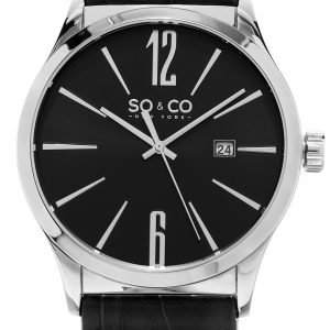 So & Co New York Madison 5098.2 Kello Musta / Nahka