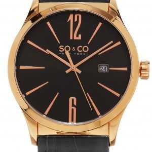 So & Co New York Madison 5098.4 Kello Musta / Nahka
