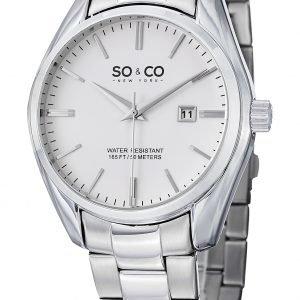 So & Co New York Madison 5101.1 Kello Valkoinen / Teräs