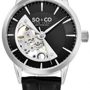 So & Co New York Madison 5412.2 Kello Musta / Nahka