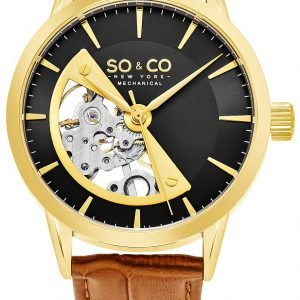 So & Co New York Madison 5412.3 Kello Musta / Nahka