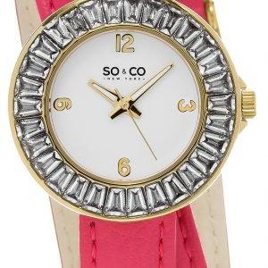 So & Co New York Soho 5070.3 Kello Valkoinen / Nahka