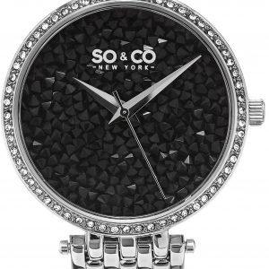 So & Co New York Soho 5080.2 Kello Kristalleilla / Teräs
