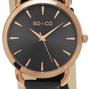So & Co New York Soho 5086.3 Kello Harmaa / Nahka