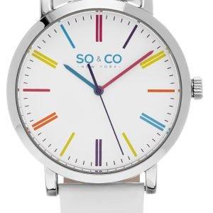 So & Co New York Soho 5092.1 Kello Valkoinen / Nahka