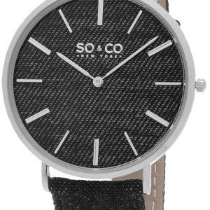 So & Co New York Soho 5103.1 Kello Musta / Nahka