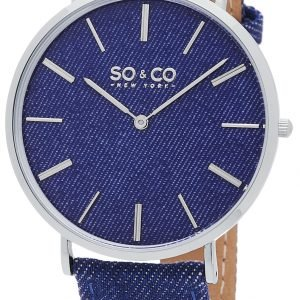 So & Co New York Soho 5103.2 Kello Sininen / Nahka