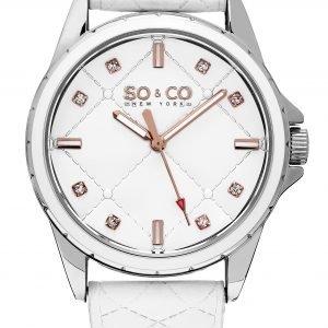 So & Co New York Soho 5201.1 Kello Valkoinen / Nahka