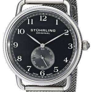 Stührling Original 207m.02 Kello Musta / Teräs