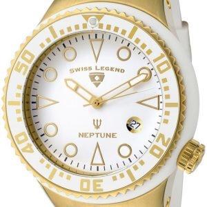 Swiss Legend Neptune Sl-21848d-Yg-02-Wht Kello Valkoinen / Kumi