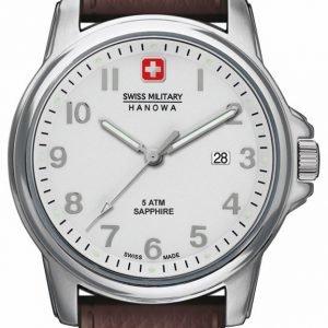 Swiss Military Dress 06-4231.04.001 Kello Hopea / Nahka