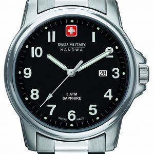 Swiss Military Dress 06-5231.04.007 Kello Musta / Teräs