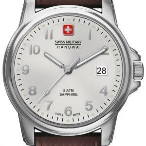 Swiss Military Dress 6-4231.04.001 Kello Hopea / Nahka