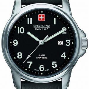 Swiss Military Dress 6-4231.04.007 Kello Musta / Nahka
