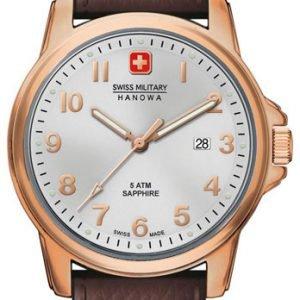 Swiss Military Recruit 06-4141.2.09.001 Kello Hopea / Nahka